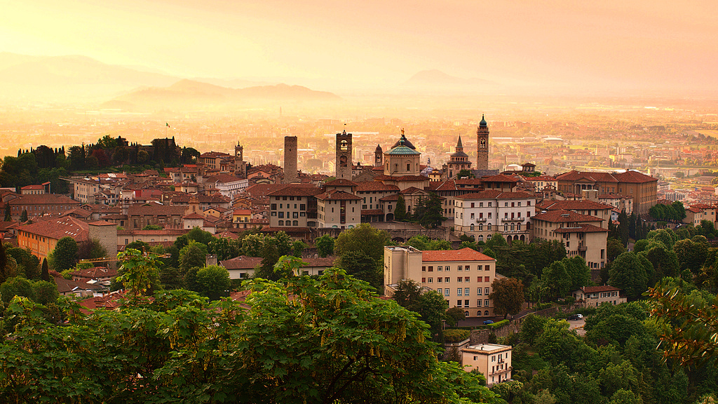 photo of sunrise at Bergamo